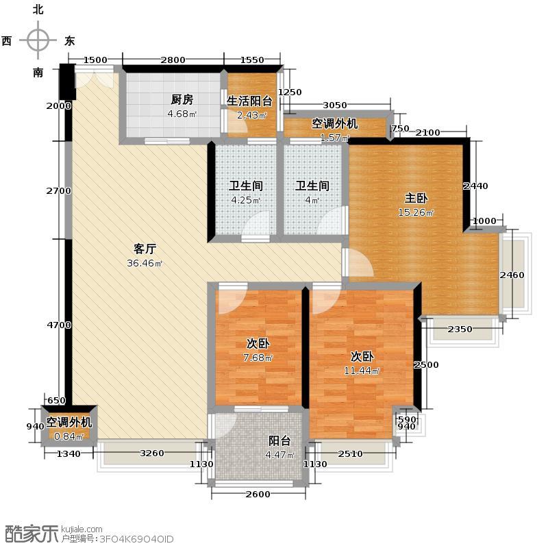 荣和中央公园106.48㎡户型10室
