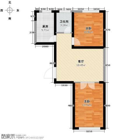 嘉元十方界2室1厅1卫0厨80.00㎡户型图