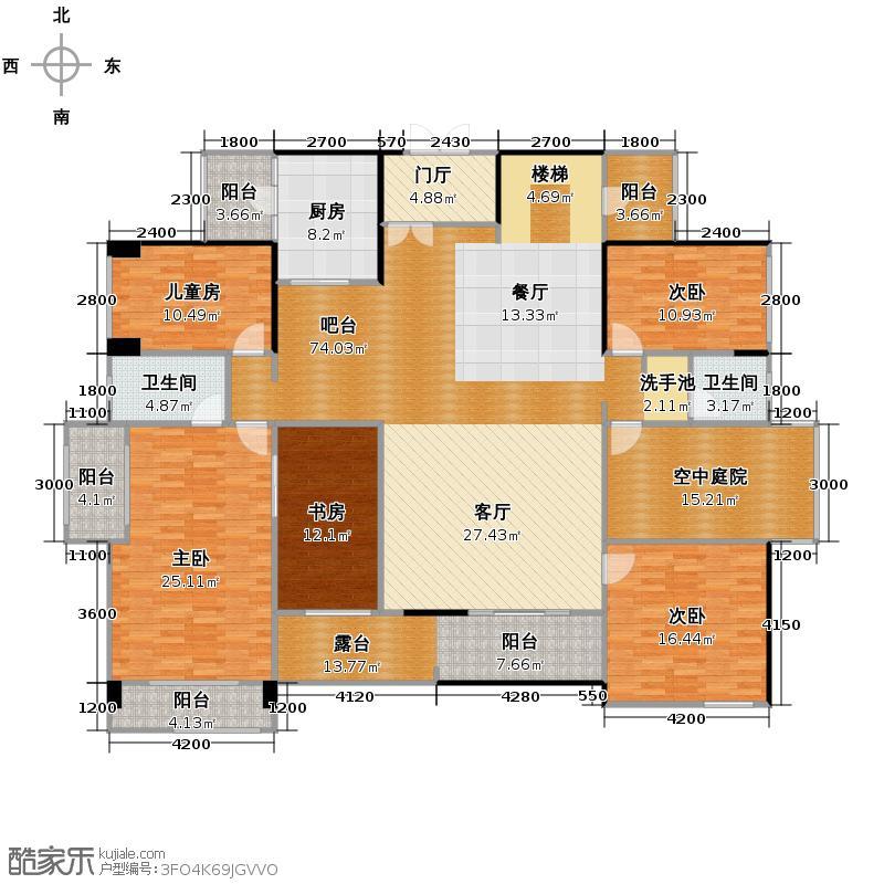 泰然南湖玫瑰湾230.01㎡户型10室