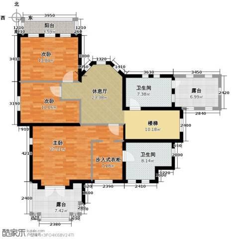 京津新城别墅4室3厅2卫0厨242.00㎡户型图
