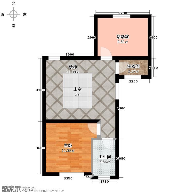 莱蒙国际公馆55.12㎡G180-120130-1三层户型10室