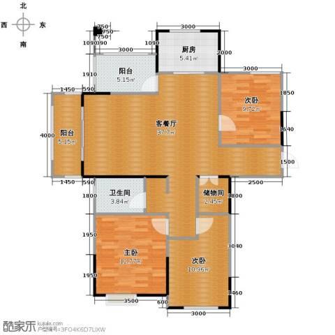祥源城3室2厅1卫0厨127.00㎡户型图