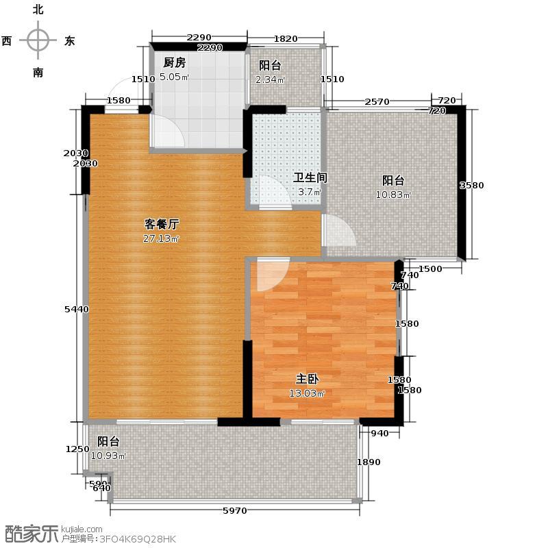 慕和南道76.68㎡12栋9-1偶数赠送超大空间主卧送飘窗户型1室1厅1卫1厨