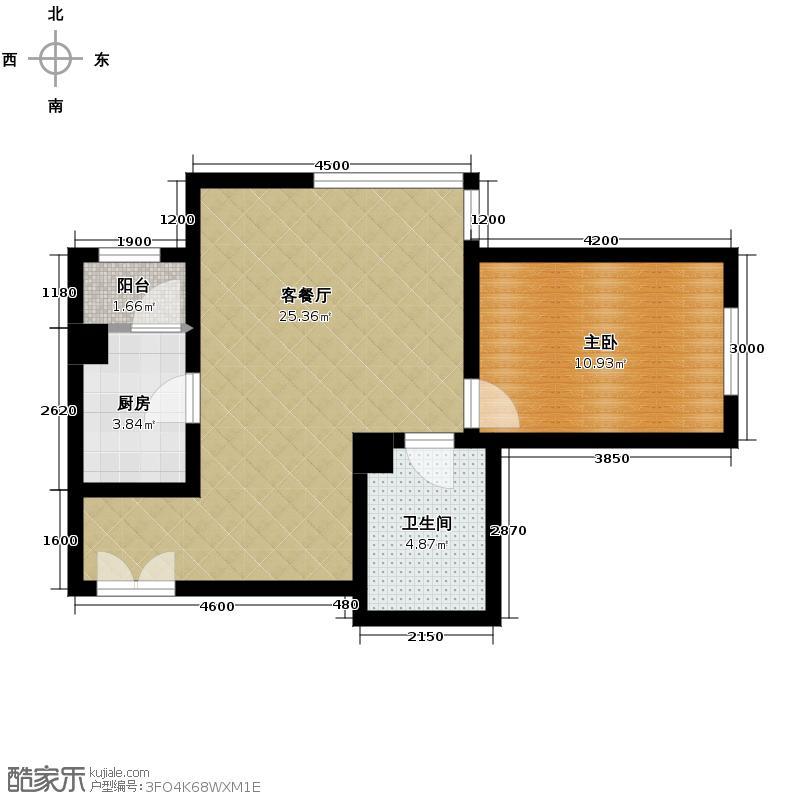 北京新天地68.78㎡31A-A反户型1室2厅1卫