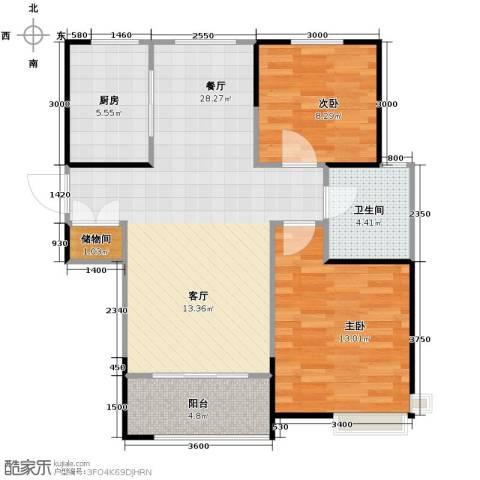 卓达・太阳城2室2厅1卫0厨91.00㎡户型图