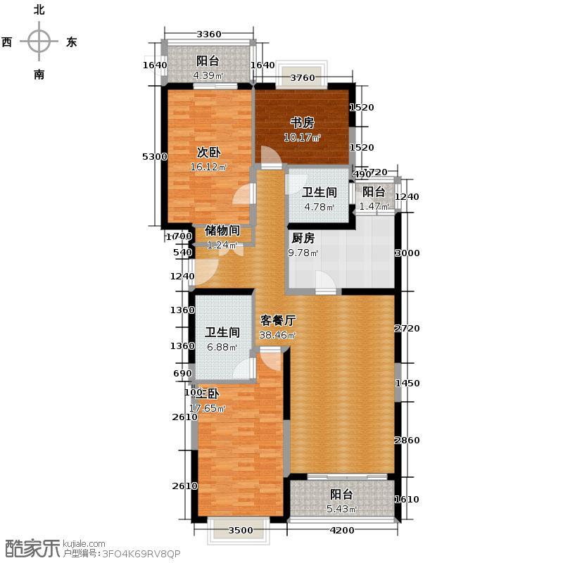 长峰馨园132.52㎡R型户型10室