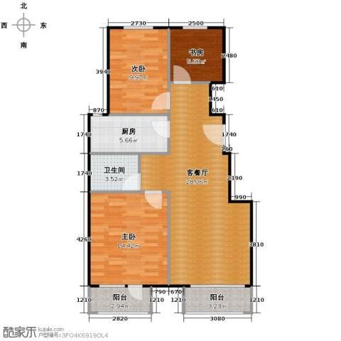 兴盛大成3室2厅1卫0厨99.00㎡户型图