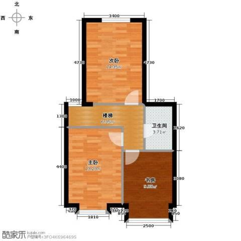 星河1853室0厅1卫0厨62.00㎡户型图