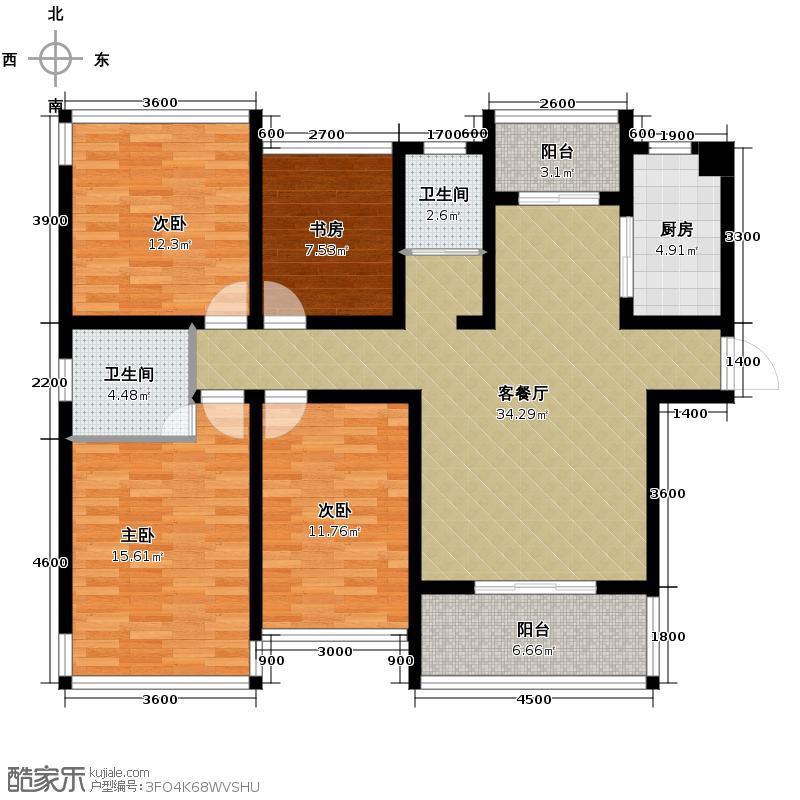湘水熙园122.50㎡户型10室