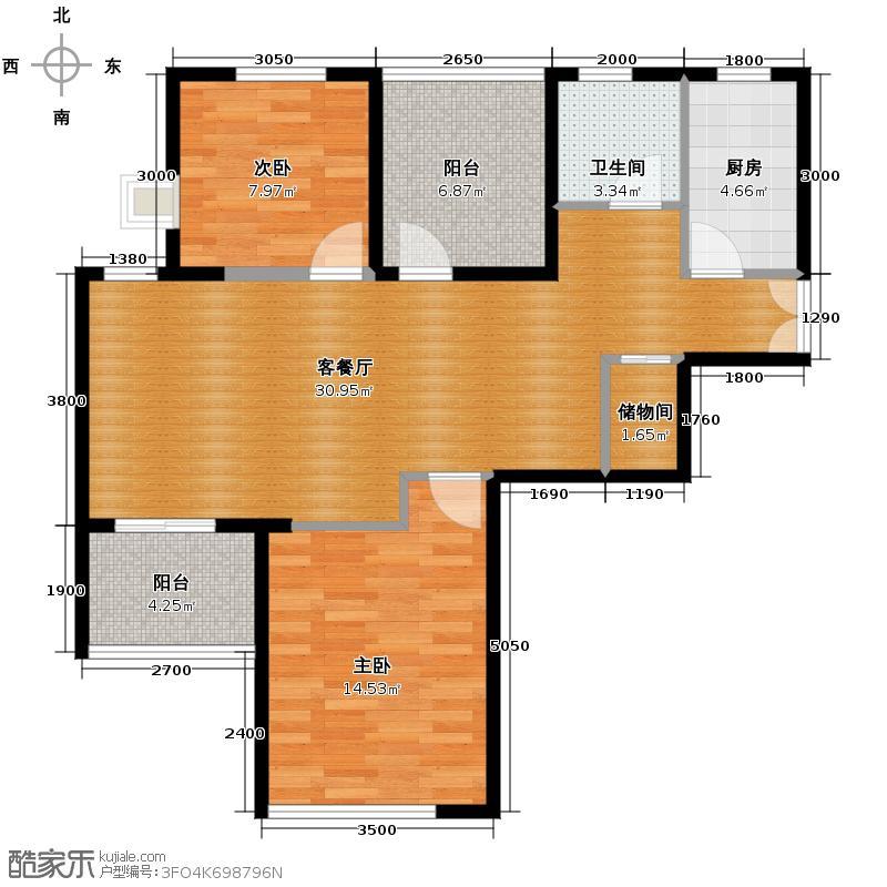 新长江香榭琴台四期墨园83.33㎡-户型10室