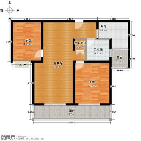 凤凰城2室2厅1卫0厨104.00㎡户型图