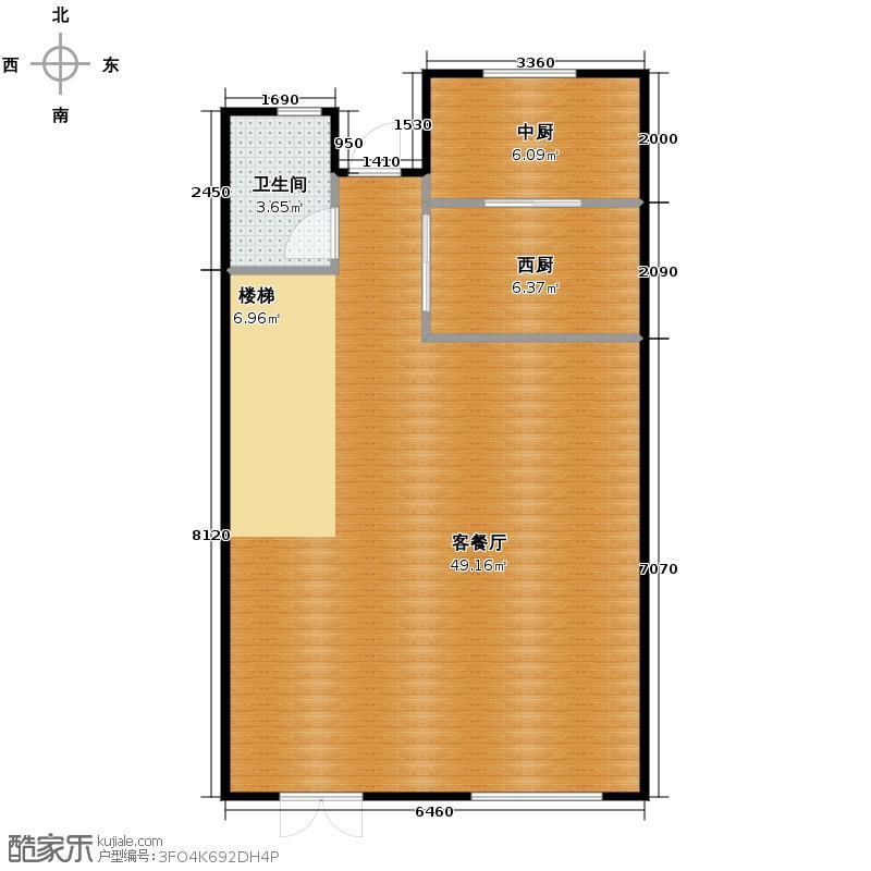 大唐壹号领馆68.94㎡1#2#楼别墅一层户型10室