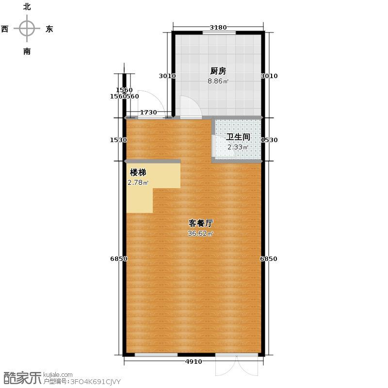 世茂生态城50.73㎡别墅V6首层户型10室
