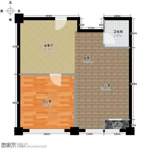 港基中心1室1厅1卫0厨71.00㎡户型图