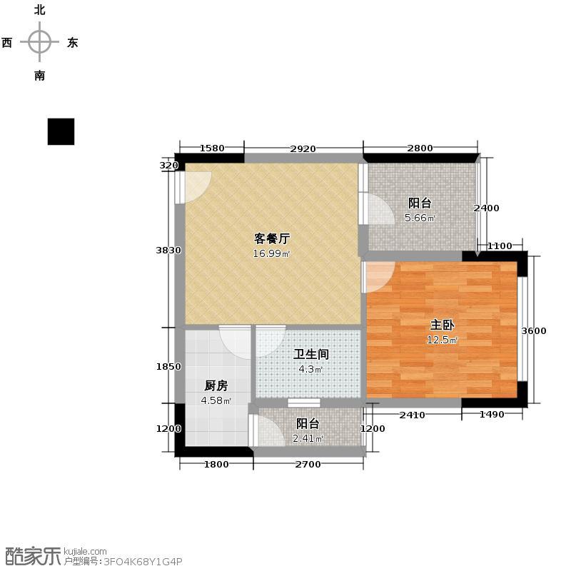 锦绣龙城八期鎏园64.91㎡六期C5户型10室