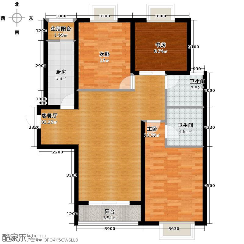 平阳府第130.00㎡C户型3室2厅2卫