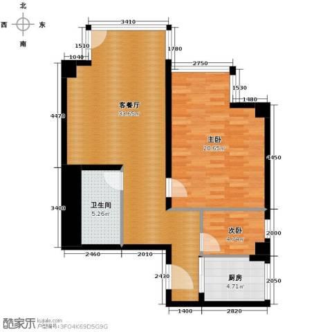 德胜君玺2室2厅1卫0厨114.00㎡户型图