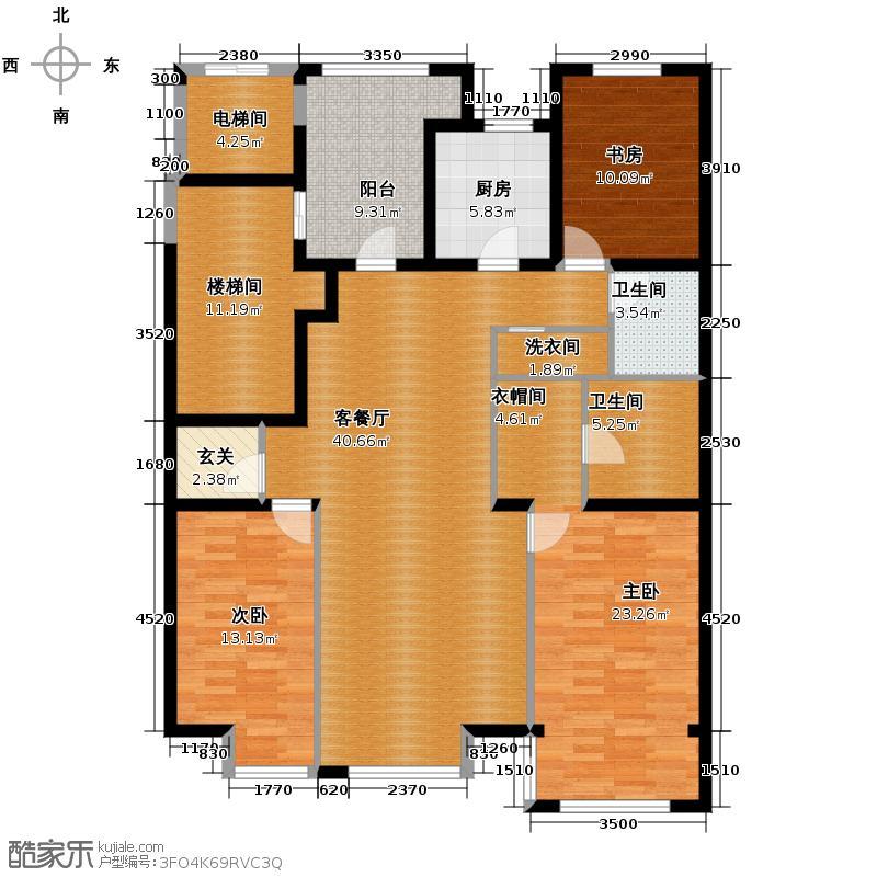 海棠公社148.03㎡D户型3室1厅2卫1厨