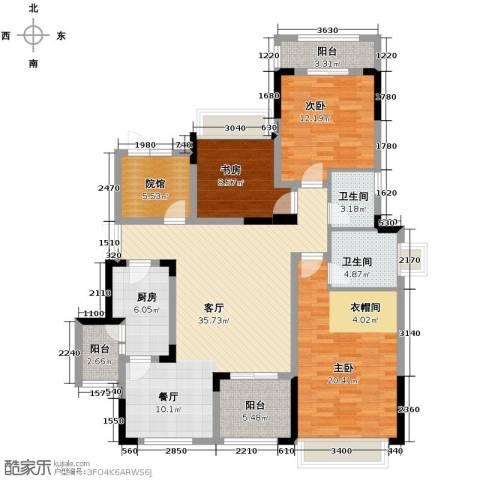 中国铁建山水时光3室2厅2卫0厨156.00㎡户型图