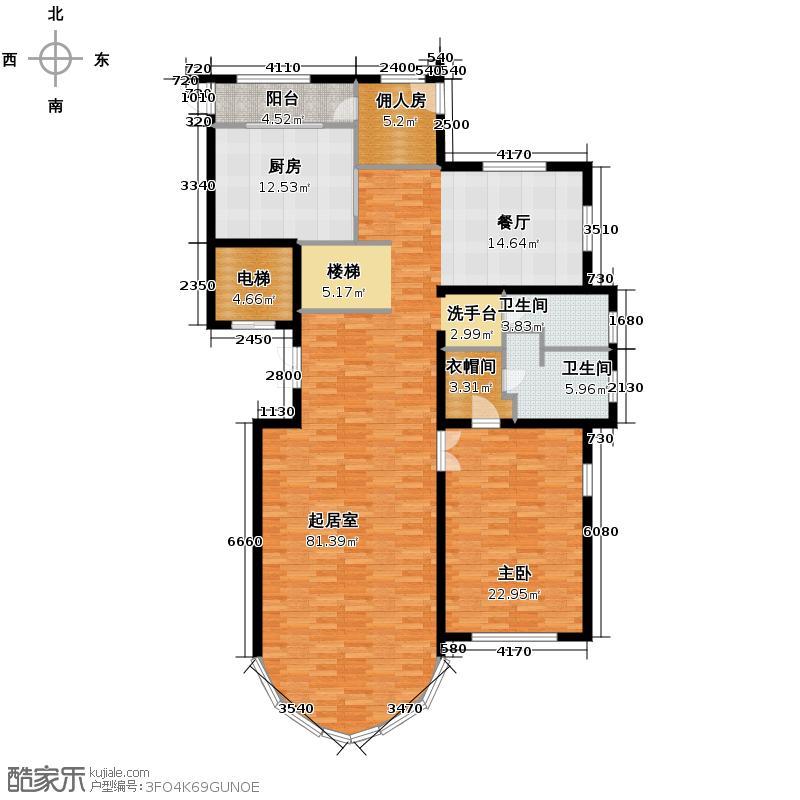 东湖湾339.00㎡空中别墅3-02跃层首层户型10室