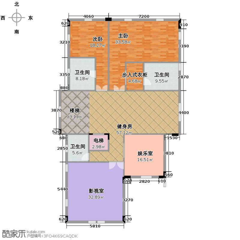 东湖洲花园204.04㎡户型10室