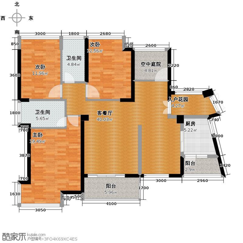 通用时代国际社区143.00㎡GC1户型3室2厅2卫