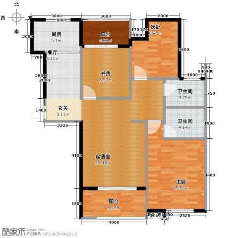 铂悦山3室2厅2卫0厨123.00㎡户型图