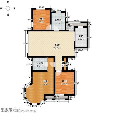 新湖・香格里拉3室2厅2卫0厨138.00㎡户型图