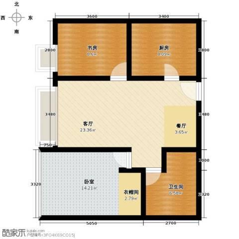 昆仑中心2室2厅1卫0厨100.00㎡户型图