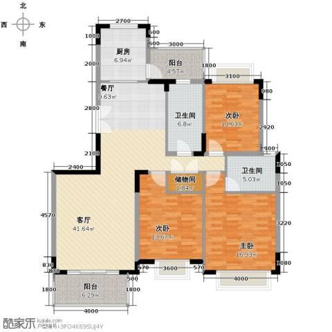 天一城3室1厅2卫1厨160.00㎡户型图