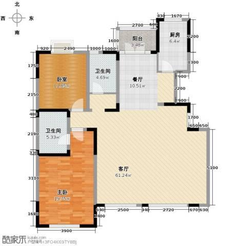 沽上江南3室2厅2卫0厨124.11㎡户型图