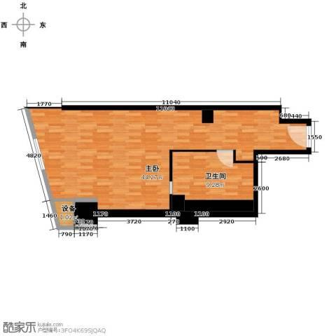公园18721室0厅1卫0厨66.00㎡户型图