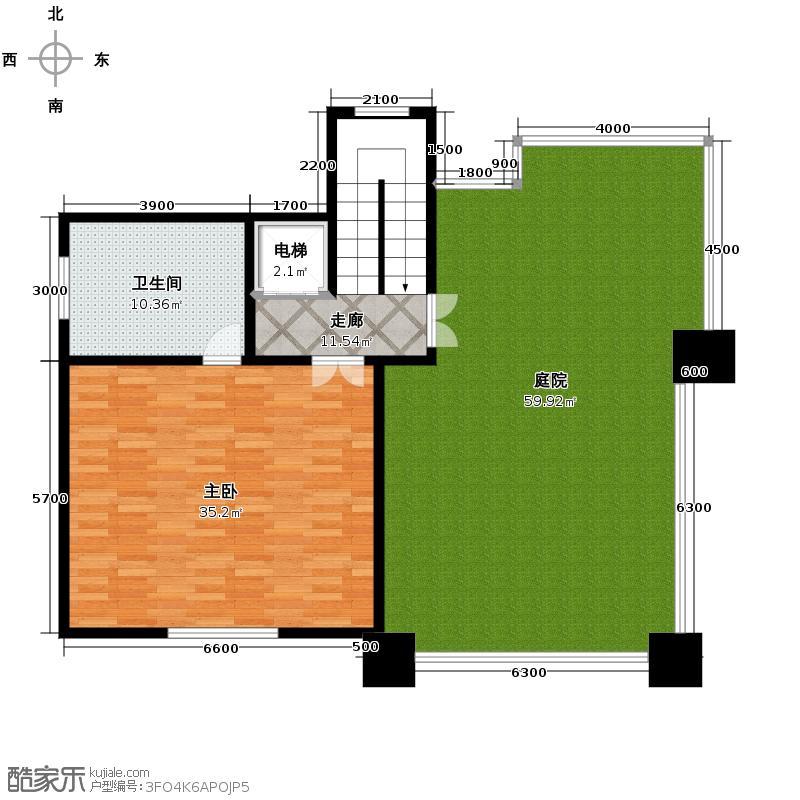 紫泉流溪湾129.44㎡C2-3独栋别墅三层户型10室