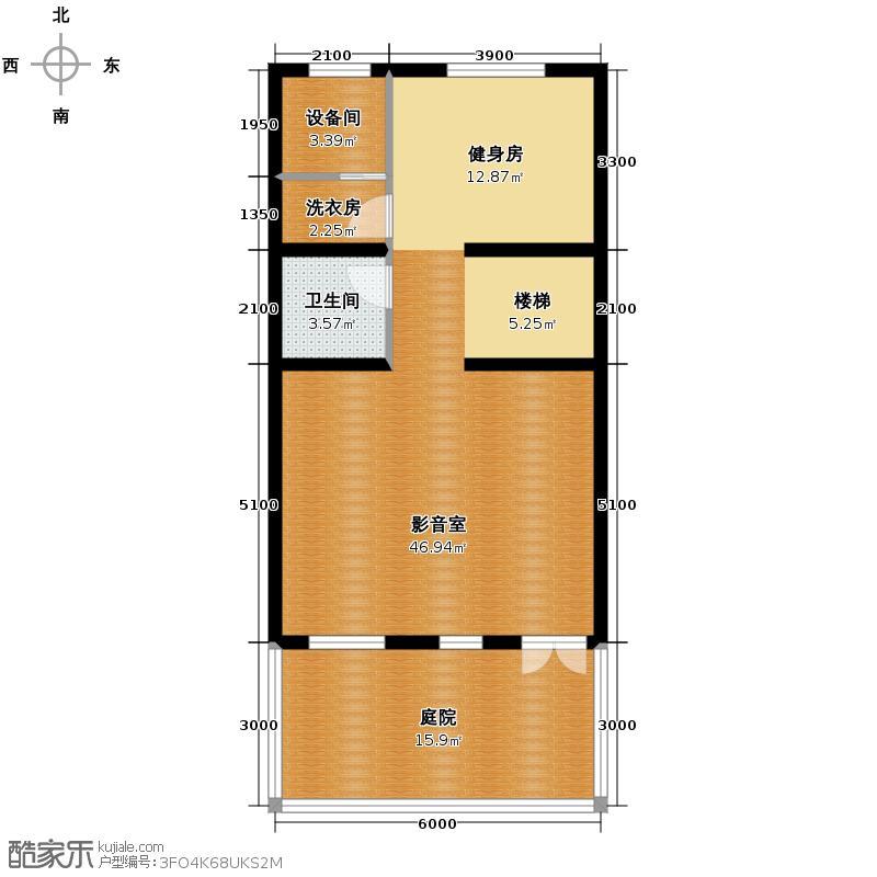 天鹅堡238.98㎡H4地下层平面图户型10室