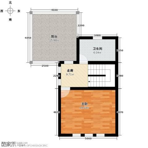 万通龙山逸墅1室0厅1卫0厨71.00㎡户型图