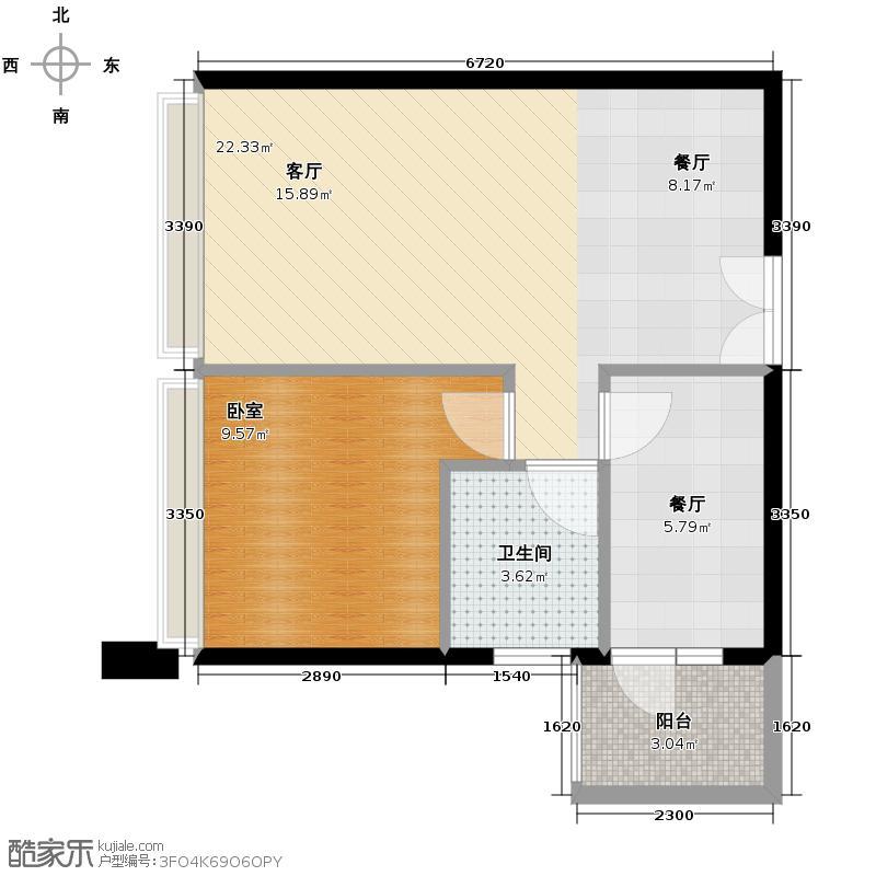 荣和中央公园49.07㎡户型10室