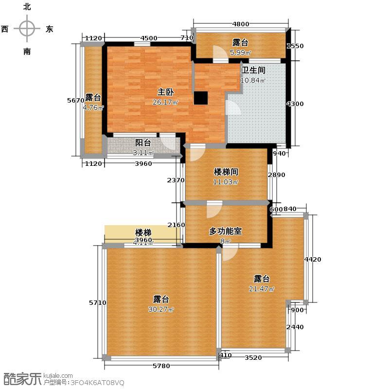 富力湾・半岛别墅139.01㎡G2三层户型10室