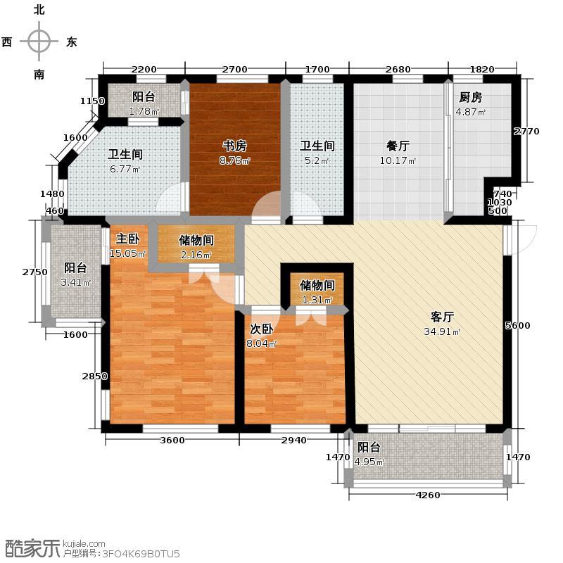 第五郡123.91㎡12391―户型3室1厅2卫1厨