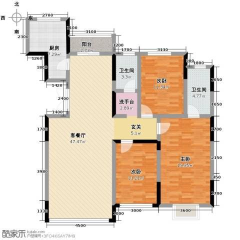 观澜湖别墅3室2厅2卫0厨145.00㎡户型图