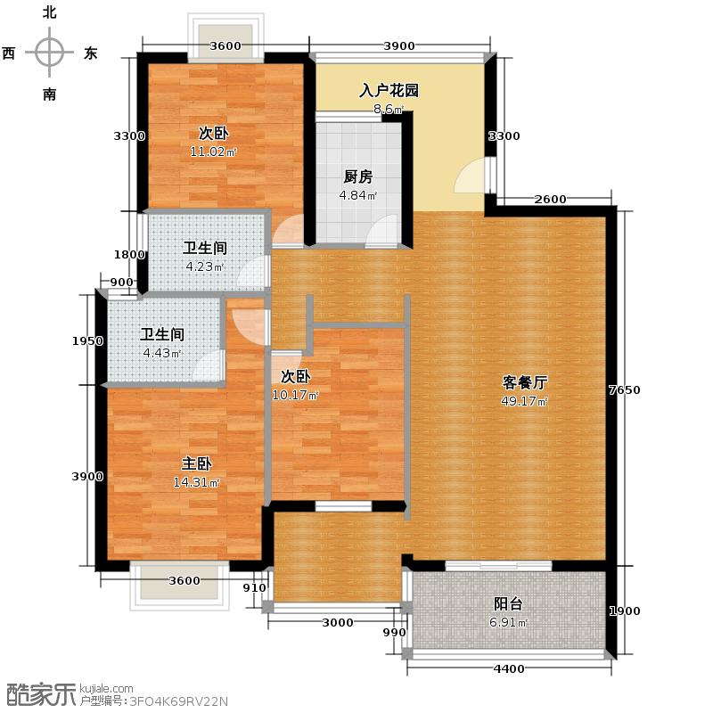 曲江诸子阶124.00㎡显礼居户型10室