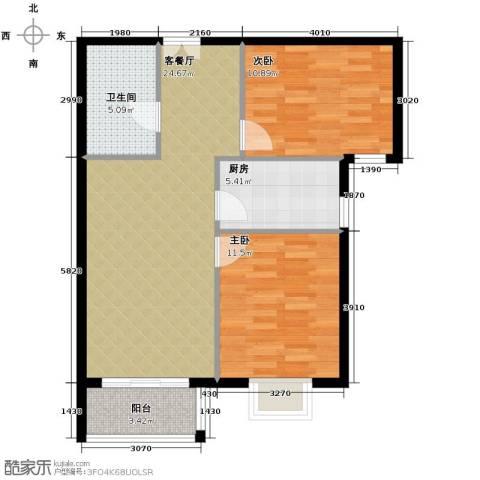 金润凤凰洲2室2厅1卫0厨90.00㎡户型图