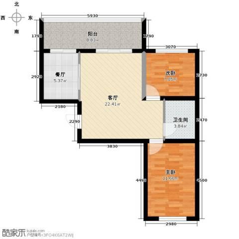 金源名府2室2厅1卫0厨73.00㎡户型图