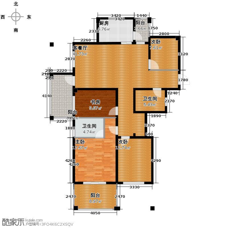 赞成香颂138.00㎡荷香居5号楼边套M1户型4室2厅2卫