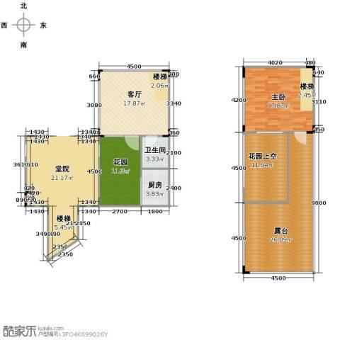 仙女山上的院子1室2厅1卫0厨92.23㎡户型图