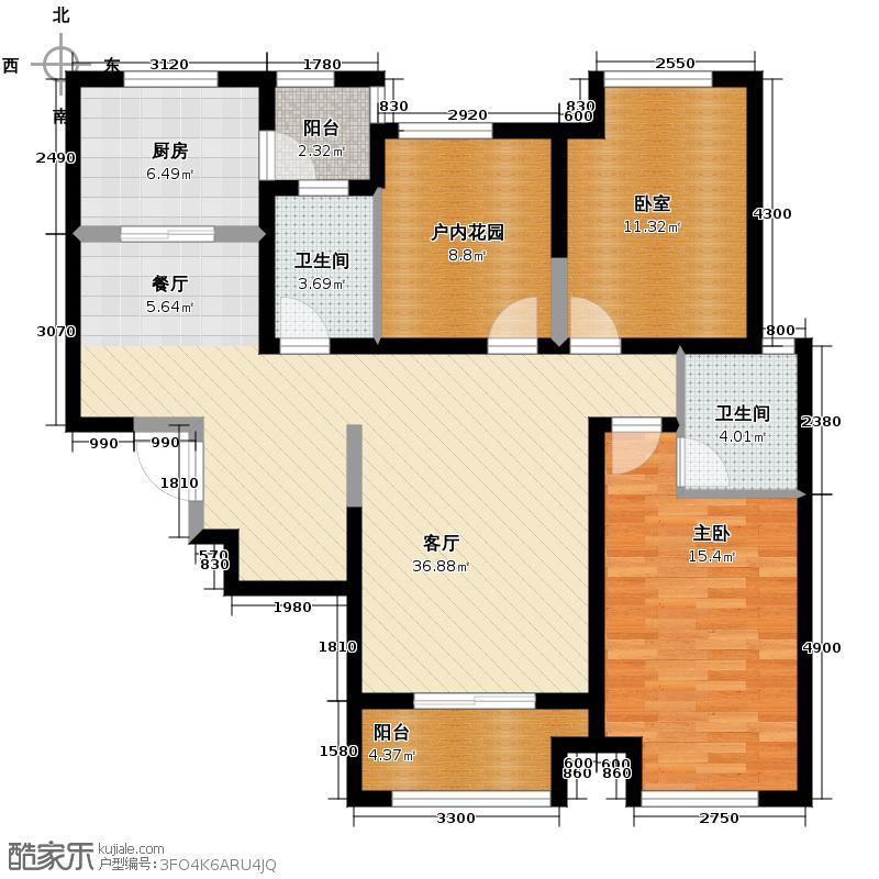 曲江千林郡127.85㎡在售B2独立卫浴动静分区户型3室2厅2卫
