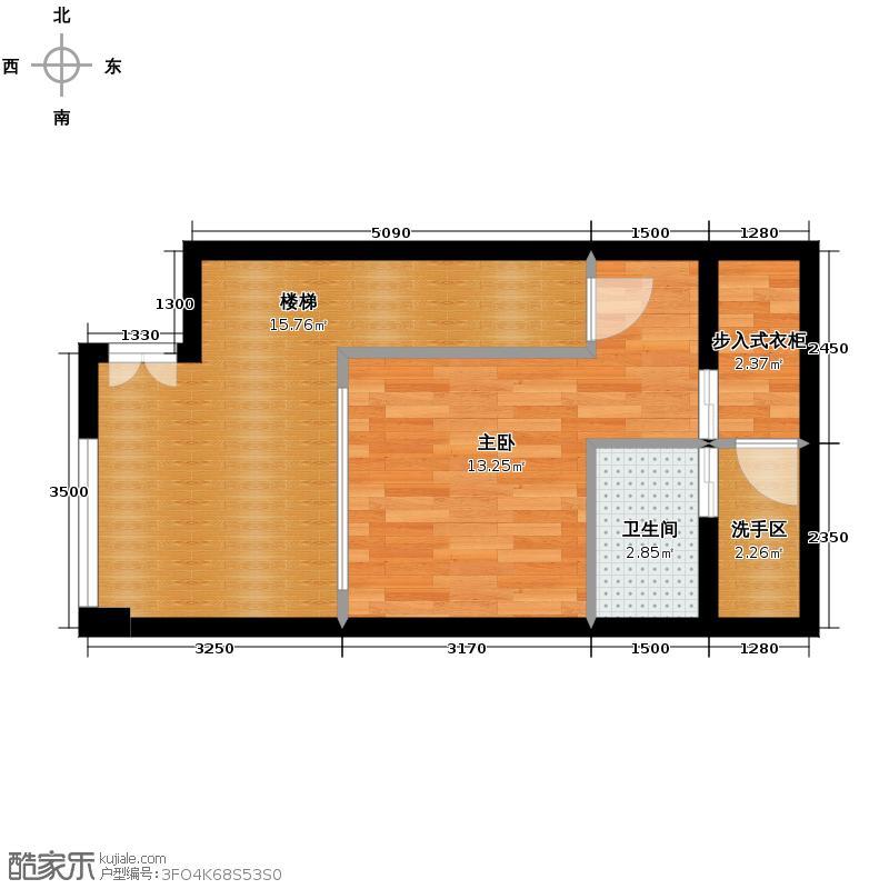 北京华贸城28.00㎡12号楼loft二层A02户型10室