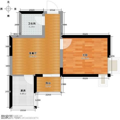 锦里1室1厅1卫0厨48.00㎡户型图