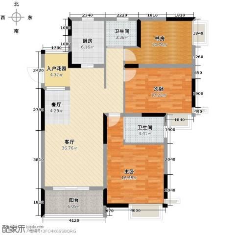清江山水3室2厅2卫0厨141.00㎡户型图