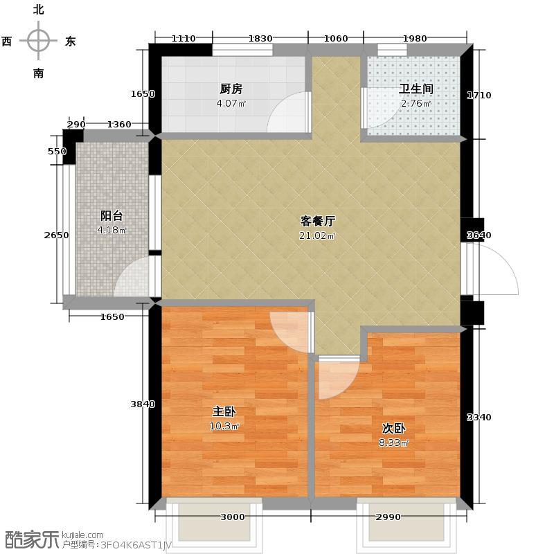 东方银座中心城78.00㎡D奇数层户型10室
