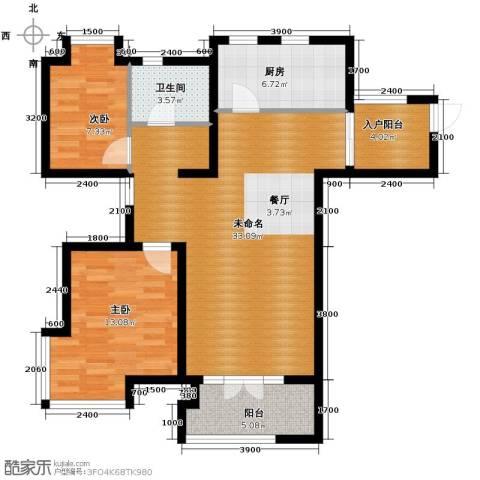 世茂生态城2室2厅1卫0厨93.00㎡户型图